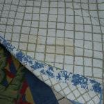 urine stained quilt