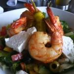 Greek Salad with Grilled Shrimp