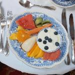 "The fruit platter - originally introduced for guests to pick at whilst the ""hots"" were prepared"