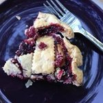 A slice of loganberry pie