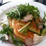 a recent brunch of zucchini fritters