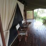 The deck that overlooks the Mara river