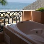 The hot tub on our balcony, loved it!
