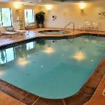 We enjoyed both the indoor pool and hot tub.