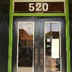 Entry door, S. Main has era painted doors-very cool.