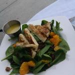 Spinach salad w/ chicken.