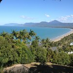 View of Four Mile Beach from the lookout at Port Douglas