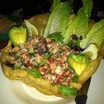 Their Ceviche Salad special. Muy Bonito, no?