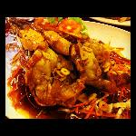 king prawn with garlic pepper sauce