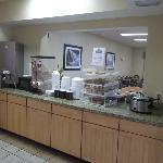 Petit déjeuner buffet de première qualité le 22 juillet 2012.