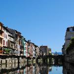 buildings and river at castres