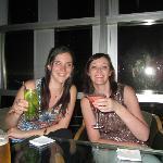 enjoying our drinks