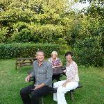 Martin, Helen and Myself enjoying pre dinner drinks
