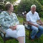 Linda and Denis enjoying pre dinner drinks