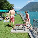 Sunny terrace, Lido San Domenico, Lake Lugano