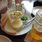 Caviar and house brewed beer at Shato