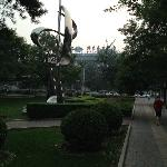 Vista dal parco vicino all'Hotel