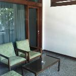 in front of room