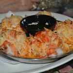 Lobster stuffen jumbo shrimp