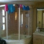 Huge bathroom, sorry about the swimwear drying