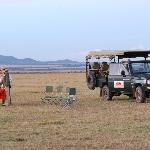 Sundowners on the Mara