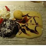 Fondant au chocolat et piments d' Espelette