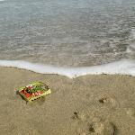 Hindu offering on the beach