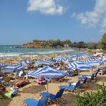 Agioi Apostoli beach area in front of the hotel