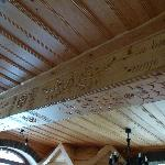 even the ceilling beams were carved