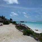 Vue sur la plage : baignade impossible sans chaussures...