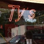 TY'S Diner Front Window