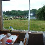 Blick vom Restaurant zum See