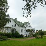 Lyckans guesthouse fra haven