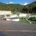 il parco sul retro dell'Hotel direttamente dalla piscina