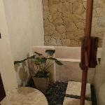 Salle de bain en exterieur