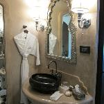 Bathroom, with Fairmont bathrobe