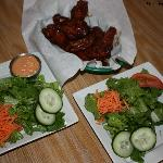 BCC BBQ Chicken Wings and Salads