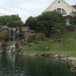 Waterfall and the clubhouse