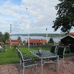View from the terrace towards Siljan