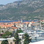 Korcula town, taken from our hotel room window.