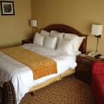 la chambre et son grand lit
