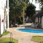 il patio e la piscina