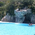 cascata piscina