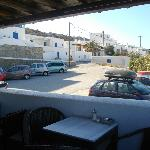 vista del parcheggio dal terrazzo colazione e relax