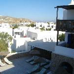 vista piscina dal terrazzo colazione