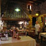 La griglia per la carne all'interno del ristorante