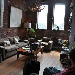 Small sitting room/ lobby of Inn