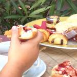 Le petit déjeuner : mini viennoiseries... un régal !