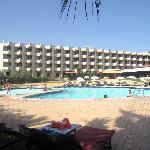 Vista da área da piscina