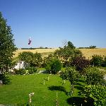 vue de notre chambre sur les lieux - zicht op omgeving - view on the neighbourhood